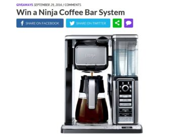 The Real Ninja Coffee Bar System Sweepstakes