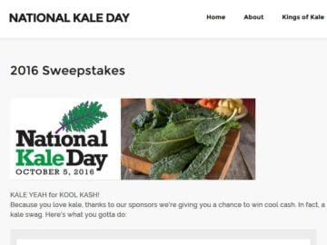 National Kale Day Sweepstakes