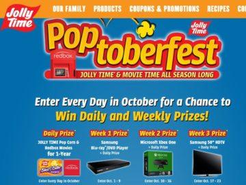 JOLLY TIME POPCORN 'Poptoberfest' Sweepstakes