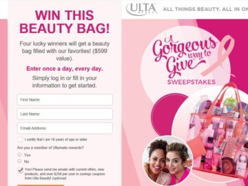 Ulta Beauty A Gorgeous Way To Give Sweepstakes
