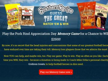 The Southern Recipe Guess the Great Memory Game Sweepstakes