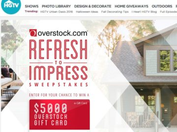 Overstock.com's Refresh to Impress Sweepstakes