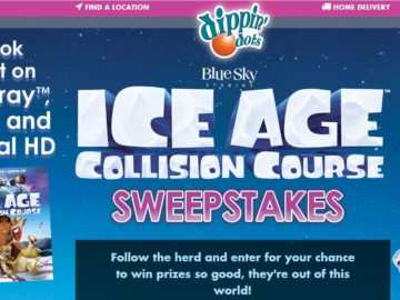 The DIPPIN' DOTS / ICE AGE: COLLISION COURSE Sweepstakes