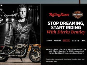 Rolling Stone Stop Dreaming, Start Riding Sweepstakes