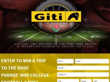 GITI Tire Rose Parade / College Football Game Sweepstakes