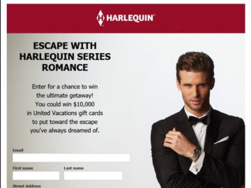 The Harlequin $10,000 Vacation Sweepstakes