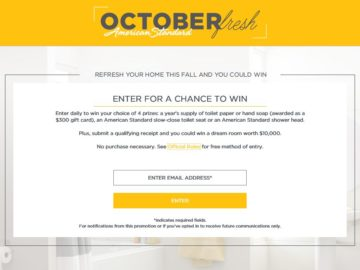 The American Standard OctoberFresh Sweepstakes