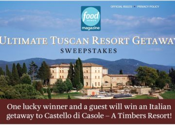 Food Network Castello di Casole – A Timbers Resort Sweepstakes