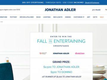 "Jonathan Adler ""Fall Into Entertaining"" Sweepstakes"