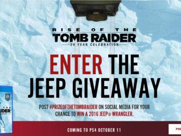 Win Lara Croft's Jeep Sweepstakes