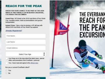 The 2016 EverBank Reach for the Peak Excursion Sweepstakes