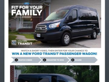 The 2016 Ford Fit For Your Family Giveaway Sweepstakes