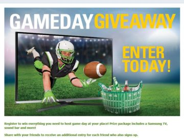 Game Day Giveaway Sweepstakes