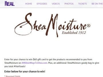The Real SheaMoisture Gift Bag Sweepstakes