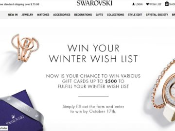 "The Swarovski ""Wishlist"" Sweepstakes"