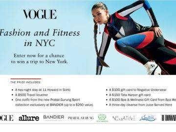 Bandier Fall Fitness Fashion Sweepstakes