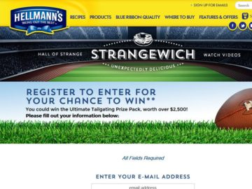 The Hellmann's Tailgate Sweepstakes