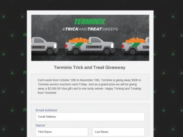 Terminix Trick and Treat Giveaway Sweepstakes