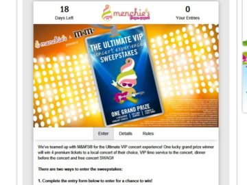 The MENCHIES & M&M'S Brand Sweepstakes