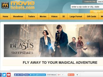 "MovieTickets.com's ""Fantastic Beasts and Where to Find Them"" Sweepstakes"