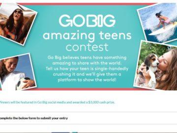 The Yoplait Go Big Amazing Teen Contest