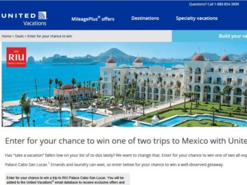 """United Vacations """"Trip Giveaway"""" Sweepstakes"""