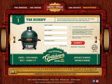 "The Cheese & Burger Society ""Gridiron Grilldown"" Sweepstakes"