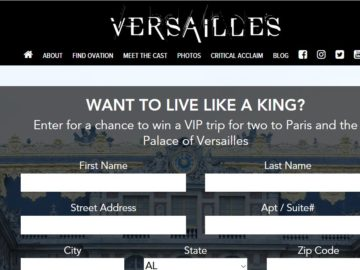 "The Versailles ""Royal Treatment"" Sweepstakes"