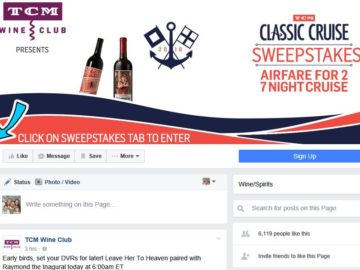 TCM Wine Club Classic Cruise Sweepstakes