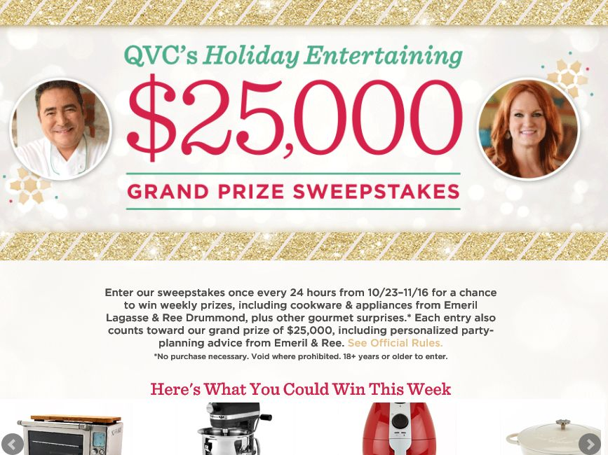 The QVC Holiday Entertaining Sweepstakes