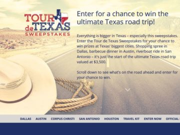 Choice Hotels Privileges Tour De Texas Sweepstakes