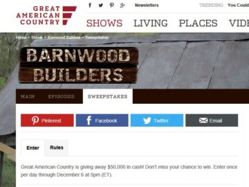 Great American Country's Adventure Sweepstakes