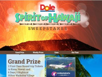 Dole salad guide sweepstakes definition