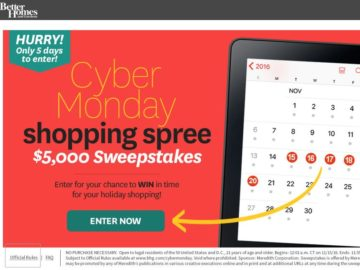 Bhg Cyber Monday Shopping Sweepstakes