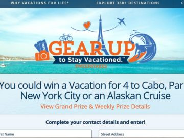 The Diamond Resorts Gear Up to Stay Vacationed. Sweepstakes