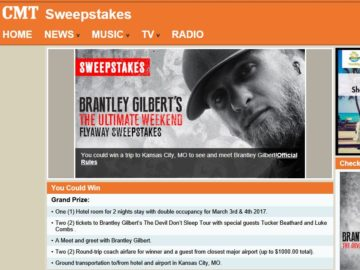 Cmt brantley gilberts the ultimate weekend flyaway sweepstakes m4hsunfo