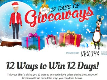 Ellen degeneres 12 days of giveaways win