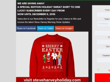 steve harvey sweepstakes steve harvey morning show s holiday sweatshirt giveaway 4998