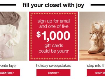 Tjmaxx Holiday Sweepstakes