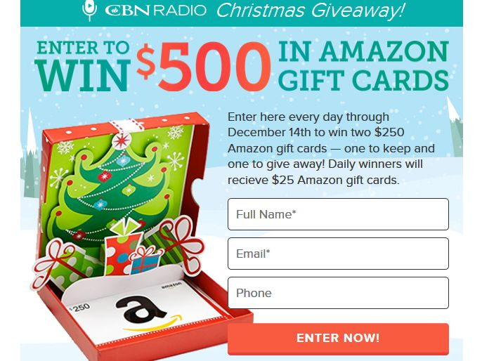 CBN Radio Christmas Giveaway Sweepstakes