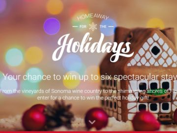 HomeAway for the Holidays Sweepstakes