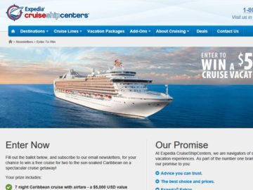 Expedia CruiseShipCenters Dream Vacation Sweepstakes