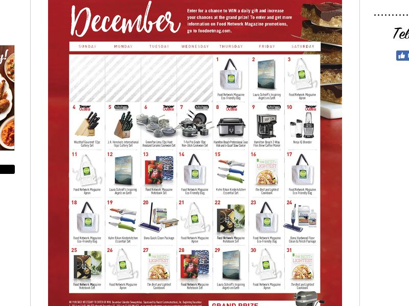 Food Network Magazine December Sweepstakes