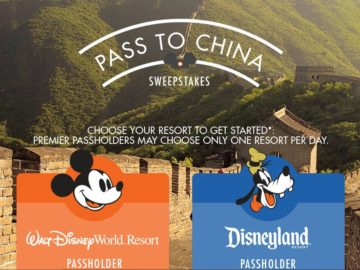 Disney Pass To China Sweepstakes – Annual Pass Holders Only