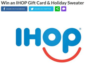 Real IHOP Gift Card & Holiday Sweater Sweepstakes