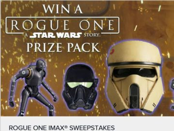 Rogue One: A Star Wars Story IMAX Sweepstakes