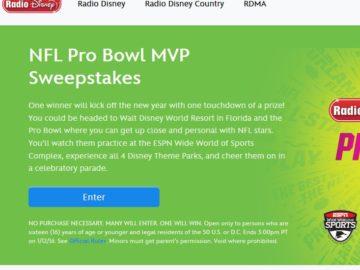Disney Radio NFL Pro Bowl MVP Sweepstakes
