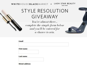 "WHBM's ""Style Resolution Giveaway"" Sweepstakes"