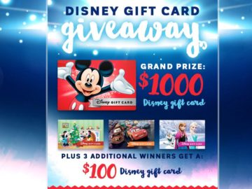 Mountain America Credit Union 2016 Disney Gift Card Giveaway Contest