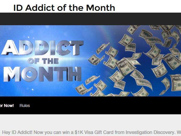 Investigation Discovery Addict Of The Month Giveaway Sweepstakes
